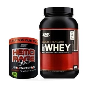 Combo 100% Whey Gold 909g + Hemo rage 25 doses