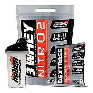 Combo 3 Whey Nitro2 (1,8kg) + Dextrose – New Millen