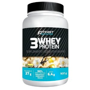 3 WHEY PROTEIN POTE 900g - FIT FAST
