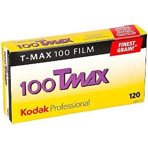 Filme negativo Kodak Professional T-Max 100 preto e branco (filme em rolo 120 Pack c/ 5)