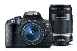 Camera Digital Canon Rebel T5i Premium 18-55mm e 55-250mm IS