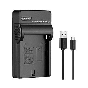 Kit Carregador USB e  Bateria para Iluminador de Led NP-F550/570  7.4v  36000mAh