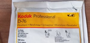 Revelador Kodak D-76 3.8LT para Filmes Preto e Branco