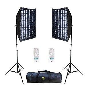 Kit  Iluminação Contínua 5500  Ágata II Soft Star Light 50x70 Greika -  newborn
