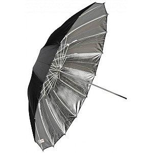 Sombrinha Refletora Preta Prata com 150cm de Diametro - REF: UB-L3-60