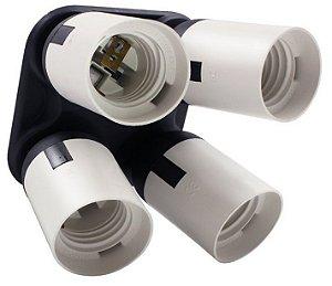Suporte para 4 lampadas soquete E27 Ref: FDLH-401