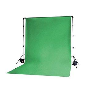 Fundo Infinito em Algodao Muslin 3x5 Metros Chroma Key Verde  Ref: Tecido Verde
