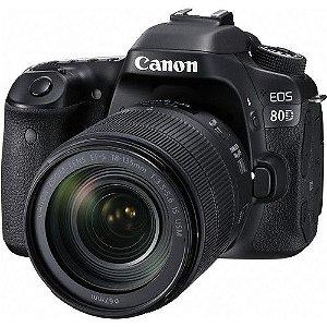 Câmera Canon EOS 80D DSLR com lente de 18-135mm