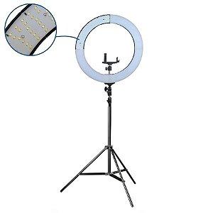 Iluminador Ring Light  - com Difusores Branco e Amarelo  - 48,5CM Diâmetro RL18