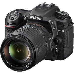 Câmera DSLR Nikon D7500 com lente 18-140mm