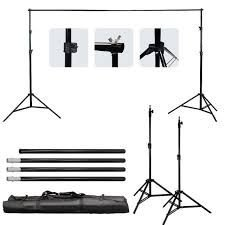 Suporte para Fundo de Estúdio Fotográfico YS-505 3m Largura x 3m Altura e Bolsa de Transporte