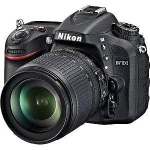 Câmera Digital Nikon D7100 24.1 Mega Pixles c/ AF-S DX 18-105mm VR  f/3.5-5.6