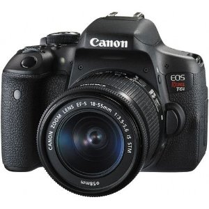 Canon EOS Rebel T6i DSLR Camera with 18-55mm Lens  24.2 megapixles