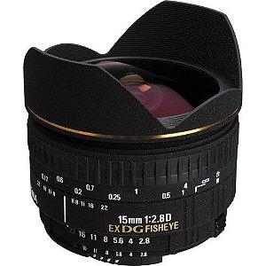 Sigma Lente Olho de Peixe 15mm f/2.8 EX DG Diagonal para Nikon AF