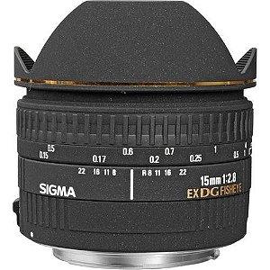 Objetiva Sigma  Autofoco Olho de Peixe 15mm f/2.8 EX DG Canon EOS