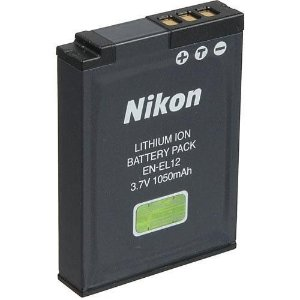 Bateria Nikon EN-EL12 de Íons de Lítio Recarregável 3,7V, 1050mAh