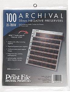 Folha de Proteção Print File 35-7BXW Negativos 35mm  Pacote com 25 Folhas