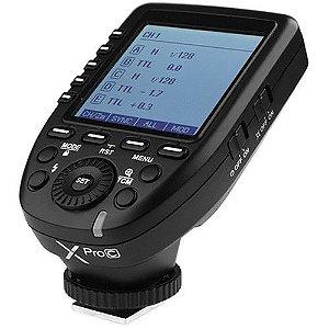 Disparador de flash sem fio Godox XProC TTL para câmeras Canon