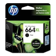 Cartucho de Tinta HP 664XL 664 Preto F6V31AB F6V31A | 1115 2136 3636 3836 3536 4676 | Original 8,5ml