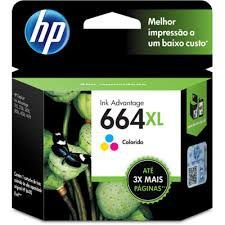 Cartucho de Tinta HP 664XL 664 Color F6V30AB F6V30A | 1115 2136 3636 3836 3536 4676 | Original 8ml