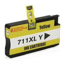 Cartucho de Tinta Compatível HP 711 Amarelo CZ132A | T520 T120 CQ890A CQ891A CQ893A | Importado 28ml