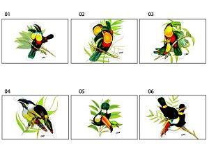 Jogo Americano Retangular - Tucanos - (UNIDADE)
