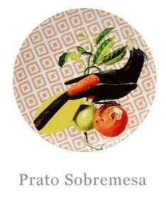 Prato de Sobremesa - Vista Alegre por Chicô Gouvêa