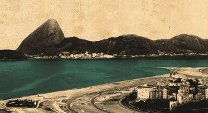 Painel e Quadro Magnético Baía da Guanabara 100x50cm