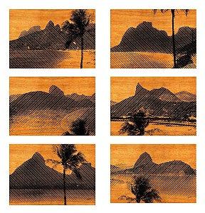 Jogos Americanos - Rio Listrado Sépia (6 unidades)