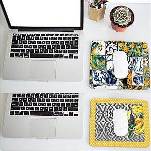 2 Mousepads: Pássaros e Azulejos