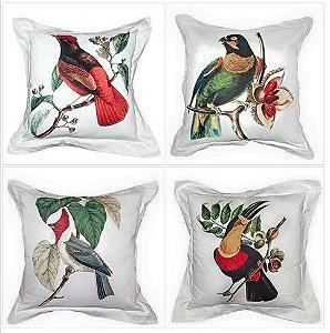 Coleção Pássaros Brasileiros (4 almofadas)