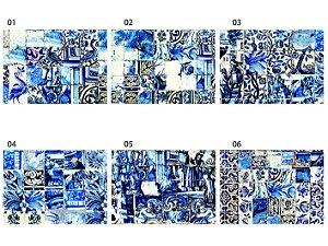 Jogo Americano Retangular - Azulejos Azuis (UNIDADE)