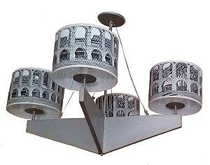 Lustre Olhar o Brasil 10 - 105cm Ø - 4 cúpulas