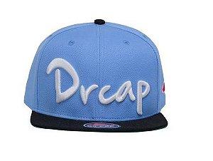 Boné Doutor Cap Whip 3d Azul Bebe com aba Preta Dr Cap Original