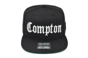 Boné Compton Aba Reta Nwa DrDree Icecube California Preto Snapback Edição Especial