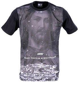 Camiseta Chronic Jesus Abençoe Nossa Quebrada Protect Theam
