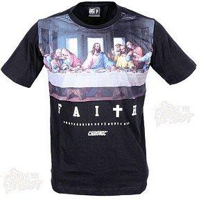 Camiseta Chronic Jesus Cristo Santa Ceia Original Preta