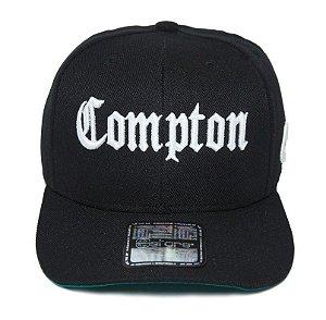 Boné Compton Aba Curva Nwa DrDree Icecube Preto Snapback Edição Especial Black Friday