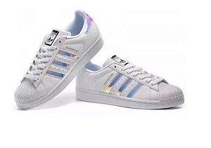 Tênis Adidas Superstar Holográfico Branco Edição Limitada