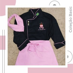 Conjunto Dólmã Basic Rosa