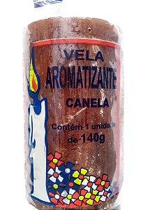 Vela aromática Canela 140g colorida - aromatizante e decorativa