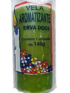 Vela aromática Erva Doce 140g colorida - aromatizante e decorativa