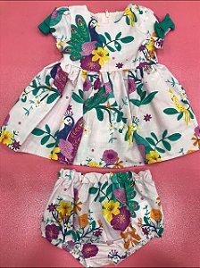 Vestido c/ Calcinha Pavão Baby Monsucré