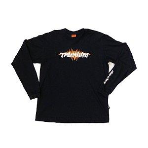 Camiseta preta Manga Longa Tam G