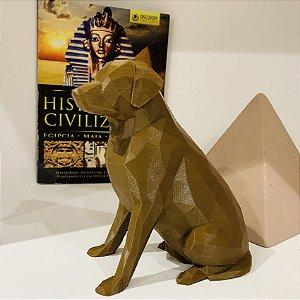 ESCULTURA DE CACHORRO 3D - LABRADOR