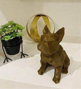 ESCULTURA DE CACHORRO 3D - BULLDOG FRANCÊS