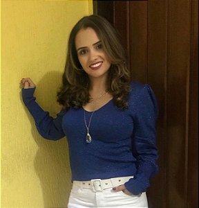Tricot Lurex Marinho