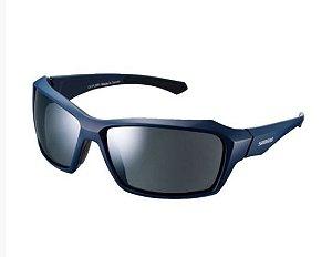 Óculos shimano azul escuro e cinza espelhado