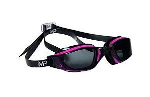 Óculos de natação Michael Phelps xceed rosa preto lente fumê
