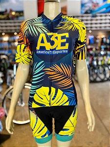 Conjunto de Camisa e Bretelles America Tri Esportes - Feminino